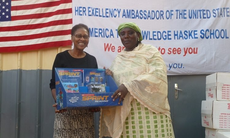 Ambassador Reddick left and President of Haské School